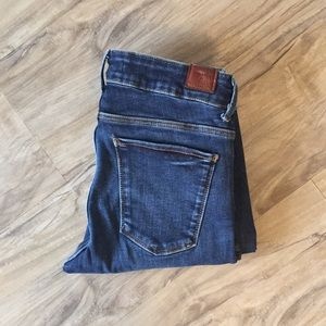 Zara Distressed cropped Jegging Jeans